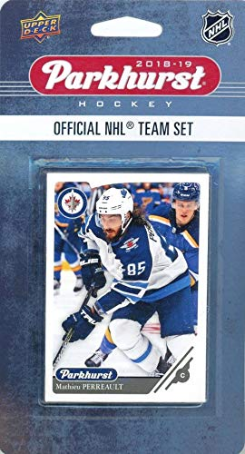 (Winnipeg Jets 2018/19 Upper Deck Parkhurst NHL Hockey EXCLUSIVE Limited Edition Factory Sealed 10 Card Team Set including Blake Wheeler,Dustin Byfuglien all the Top Stars & RC's! WOWZZER!)
