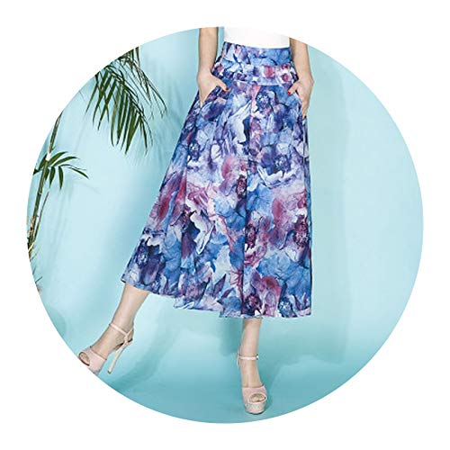 Sunny Doll Women Wide Leg Loose High Waist Summer Pants for Women Thin Section Trousers,L