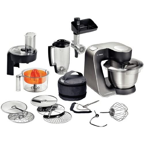 Bosch MUM57860 900W 3.9L Negro, Acero inoxidable - Robot de cocina (3,