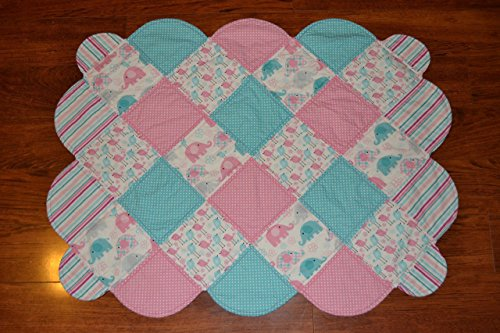 Birds and Elephants Baby Quilt, Baby Blanket by FlutterBy Baby Quilts