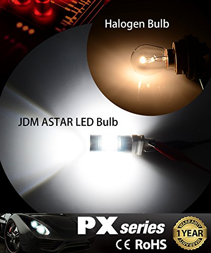 JDM ASTAR 1260 Lumens Extremely Bright PX Chips 3057 3156 3157 4057 4157 White Backup Reverse LED Bulbs by JDM ASTAR (Image #1)