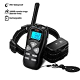 PetOffers Dog Training Collar with Remote Humane Shock Collar for Dogs Rechargeable Waterproof E-Collars for Dogs with Beep Vibration Shock for Small Medium Large Dogs