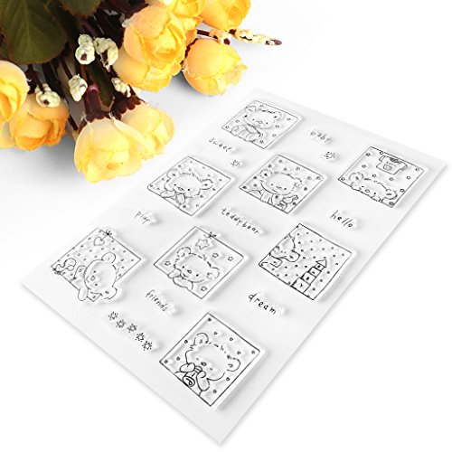 Milue Clear Stamp Silicone Seal Sweety Bear DIY Diary Scrapbook Paper Card Album S20