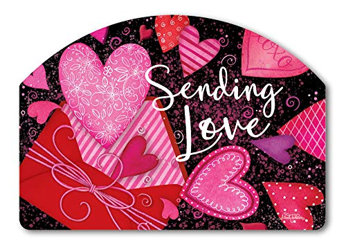 Yard DeSigns Studio M Sending Love Spring Valentine's Day Decorative Yard Sign Magnet, Made in USA, Superior Weather Durability, 14 x 10 Inches