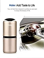LESHP Car Air Purifier, Haier Portable Ionic Air Purifier Ionizer Air cleaner Ionic Car Air Freshener and Order Eliminator removers Cigarettes Smoke Smell and Bad Odors (Gold)