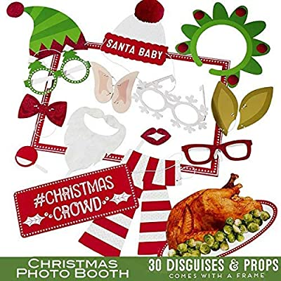 Amazon Com Talking Tables Christmas Entertainment Christ Crowd Photobooth With 30 Disguises And Props For Christmas Parties