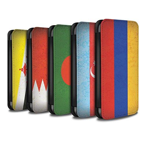 Stuff4 Coque/Etui/Housse Cuir PU Case/Cover pour Apple iPhone 6S+/Plus / Pack 28pcs Design / Drapeau Asie Collection