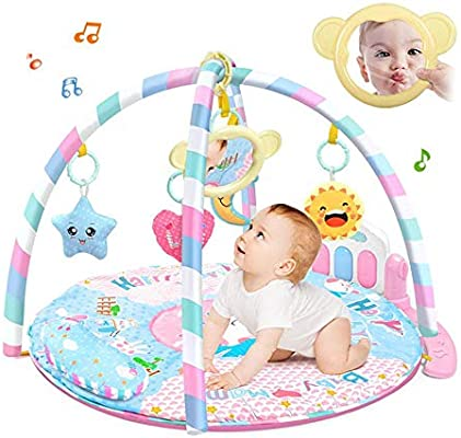 Gym Mat For Baby Lesgos Infant Activity Fitness Play Mat With