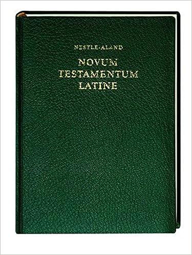 Novum Testamentum Latine: Nova Vulgata
