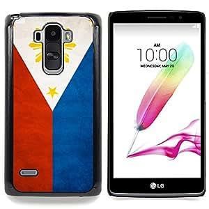 "Qstar Arte & diseño plástico duro Fundas Cover Cubre Hard Case Cover para LG G4 Stylus H631 MS631 H635 H540 H630D H542 (Bandera nacional de la Serie-Filipinas"")"