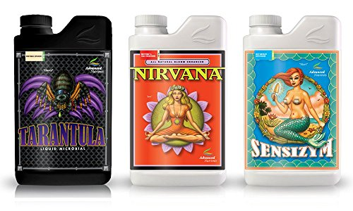Advanced Nutrients Professional Grower Bundle Tarantula, Nirvana, Sensizym Plant Fertilizer Enhancer Ph Balance, 4 L by Advanced Nutrients