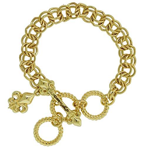 Ritzy Couture Women's Ornament Starter Charm Chain Drop Dangle Toggle Bracelet ()