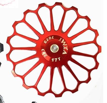 Rueda de desviador Jockey para bicicleta de carretera, MTB, guía de cerámica 11T, 12T, 13T, 14T, 15T, 16T, 17T: Amazon.es: Deportes y aire libre