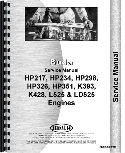 Austin Western 88H Grader Buda Engine Service Manual (BUDA-S-HP217+)