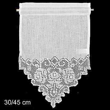 Fensterdeko Gardine Hossner | 45x30 cm H/B | creme | 100 % Leinen