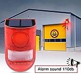 SZYOUMY Solar Powered Sound Alarm Strobe Light