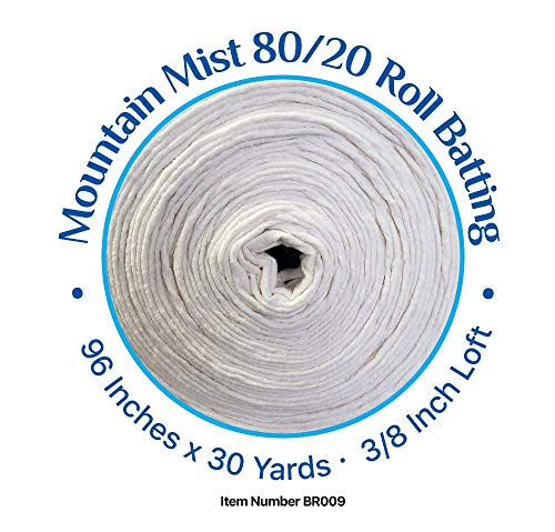 80/20 Cotton Polyester Blend Batting 96 Inches by 30 Yards