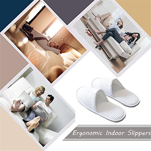 Fluffy Toe Non a Home Spa Comfortable Use Perfect Slip Unisex White Slippers Commercial White Hotel Closed WinDoo 8IxqWEaSwW