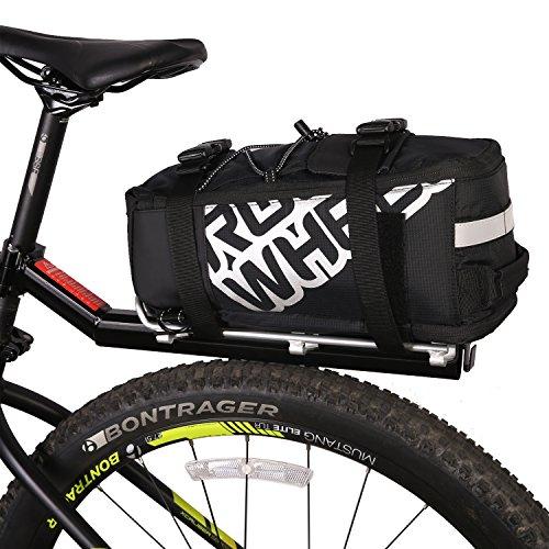 ArcEnCiel 400D Nylon Waterproof Bike Bag Mountain Road Bicycle Bike Bag Cycling Double Side Rear Rack Tail Seat Trunk Bag Pannier (Black)