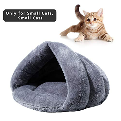 Suroomy Cat Bed Cave Pets Kitty Tent Bed Cat House Condo Sleeping Bag Triangle Burrow Fleece Indoor Nest