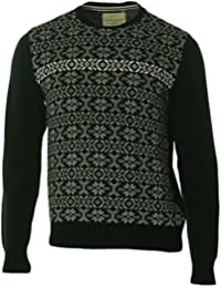 Mens Holiday Fair Isle Pullover Sweater