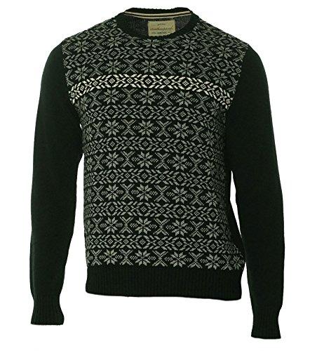 Weatherproof Men Crewneck Fair Isle Pullover Knit Sweater Black XL - Fair Isle Crewneck Sweater