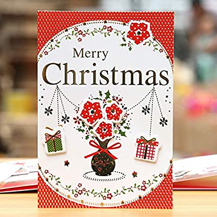Christmas Card Message.Amazon Com Greeting Cards 5pcs Cartoon Animal Merry
