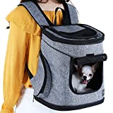 Petsfit Airline Approved Puppy Carrier Backpack for Small Pets Under 8 Pound,11.5 x 9.5 x 13.5 Inches