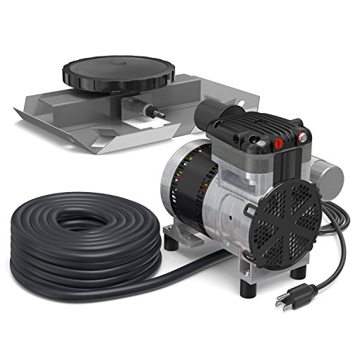 AirPro Pond Aerator Kit by Living Water - Rocking Piston Pond Aeration System for Up to 1 Acre - Minimize Odor, Prevent Fish Kill - Includes 1/4 HP Compressor, 100' Weighted Tubing, Membrane Diffuser ()
