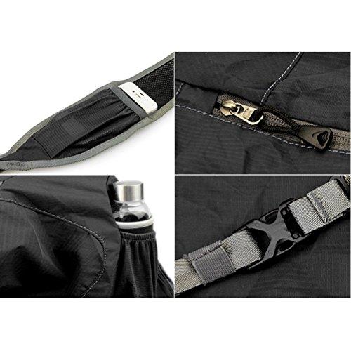 Aosbos Mochila Bandolera Ligera Impermeable y Plegable para Deporte al Aire Libre 10L(negro) negro