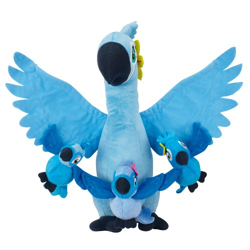 Rio 2 Movie - 12 Plush Jewel with Kids Carla, Bia & Tiago, Kids 3-1/2 T