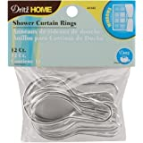 Dritz 44342 Shower Curtain Rings, 2-3/4 by 1-1/2-Inch, 12-Pack by Dritz