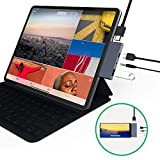 USB C Hub Adapter for ipad pro 2018 2019 - 4 in 1 Type-C Adapter with USB-C PD Charging - USB 3.0 & 3.5 mm Headphone Jack - 4K HDMI Compatible with Mac Pro - Samsung S8 S9 S10 - Note 8 9