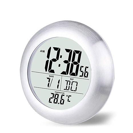 ZXLIFE@ Reloj De Ducha De Baño De LCD Resistente Al Agua, Relojes De Pared
