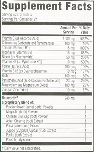 Relacore Maximum Strength Stress Reducer/Mood Elevator Caplets, 72 count (Pack of 1) by Relacore (Image #1)