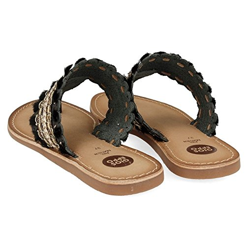 Ethnic t-bar sandals Sayani by Gioseppo (39 - Black)