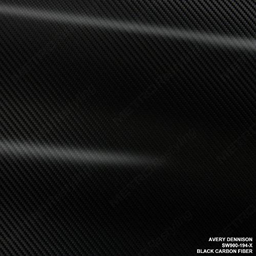 (Avery SW900-194-X BLACK CARBON FIBER 5ft x 6ft (30 Sq/ft) Supreme Vinyl Car Wrap Film)