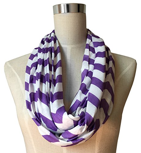 womens-chevron-patterned-infinity-scarf-with-zipper-pocket-purple