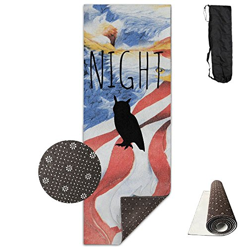 Deluxe Night Owl (QNKUqz Night Owl Deluxe Yoga Mat Aerobic Exercise Pilates)