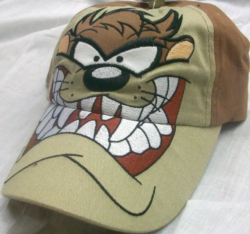 Taz Baby Costumes (Looney Tunes Taz Big Face Youth Size Cap Hat, Great for Halloween)