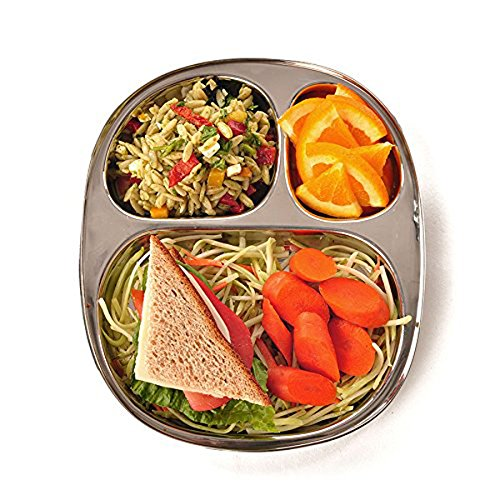 Eco Serveware - ECOlunchbox Kid's Tray - Divided Stainless Steel Tray