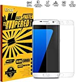 Galaxy S7 Edge Coloured Tempered Glass, E LV Samsung Galaxy S7 Edge ANTI-SHATTER Colorful Ballistic Glass Screen Protector Colored Front Premium Tempered Glass Screen Protector for Samsung Galaxy S7 Edge , Scratch Free Ultra Clear HD Screen Guard for Galaxy S7 Edge - CLEAR (NOT COMPATIBLE WITH GALAXY S7)