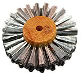 Steel Wire Brush Strands .003'' X 3'' Diameter Straight 4 Row