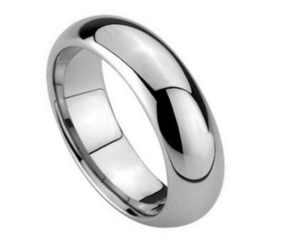 6mm Tungsten Carbide classic Comfort Fit high polish Wedding Band Ring For Him Or Her
