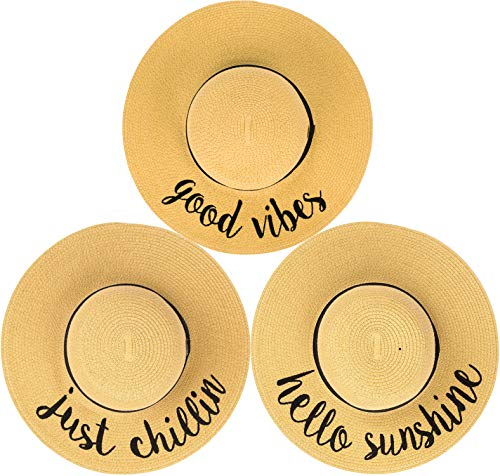 H-2017-3-GV.HS.JC Sun Hat Bundle - Good Vibes, Hello Sunshine, Just Chillin -