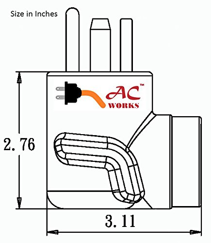 AC WORKS [WD1430650] 30Amp 4-Prong 14-30P Dryer Plug to 6-50R 50Amp 250V Welder adapter by AC WORKS (Image #4)