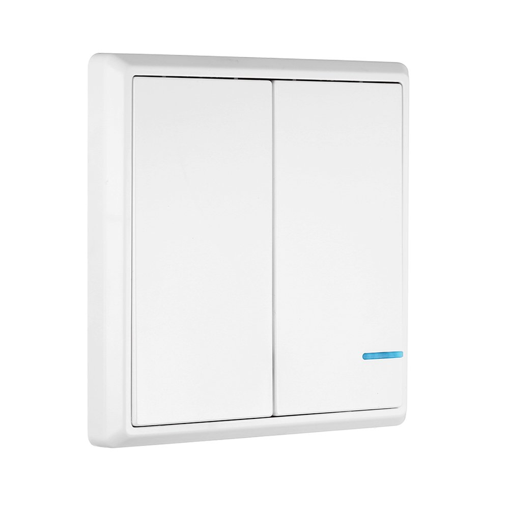 KKmoon Transmisor de Interruptor Inalá mbrico Control Remoto Impermeable para Iluminació n de Casa y Electrodomé sticos (2 Botó n)