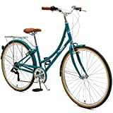 Critical Cycles Beaumont-7 Seven Speed Lady's Urban City Commuter Bike, 44cm, Turquoise, 44cm/Medium