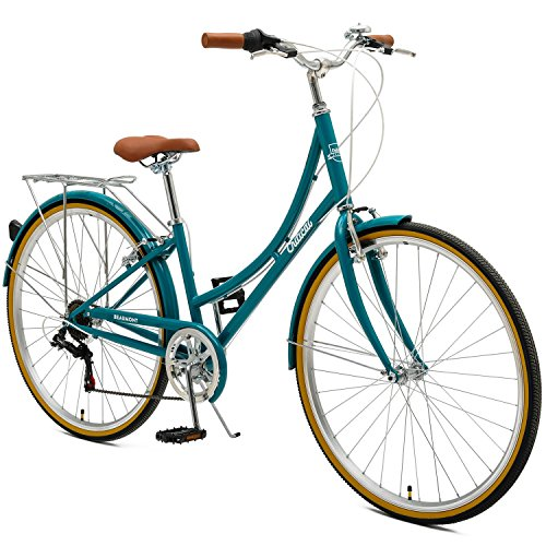 Retrospec by Westridge Critical Cycles Beaumont-7 Seven Speed Lady's Urban City Commuter Bike; 44cm, Turquoise, 44cm/Medium