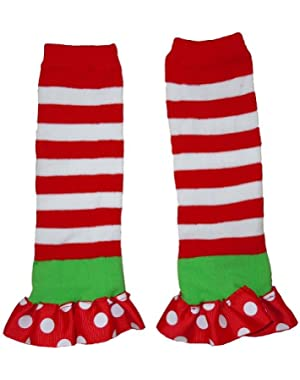 Set of 2 Pair of Christmas Holiday Leg Warmers Size 0-12 Months